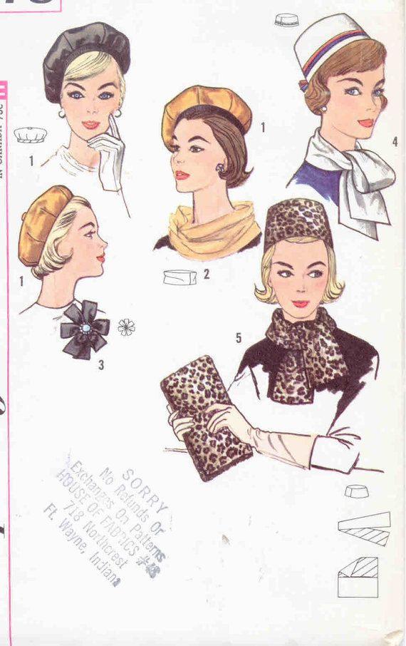 Vintage 1950\'s Misses\' Pillbox Hat Beret by CottageLaneTreasures ...