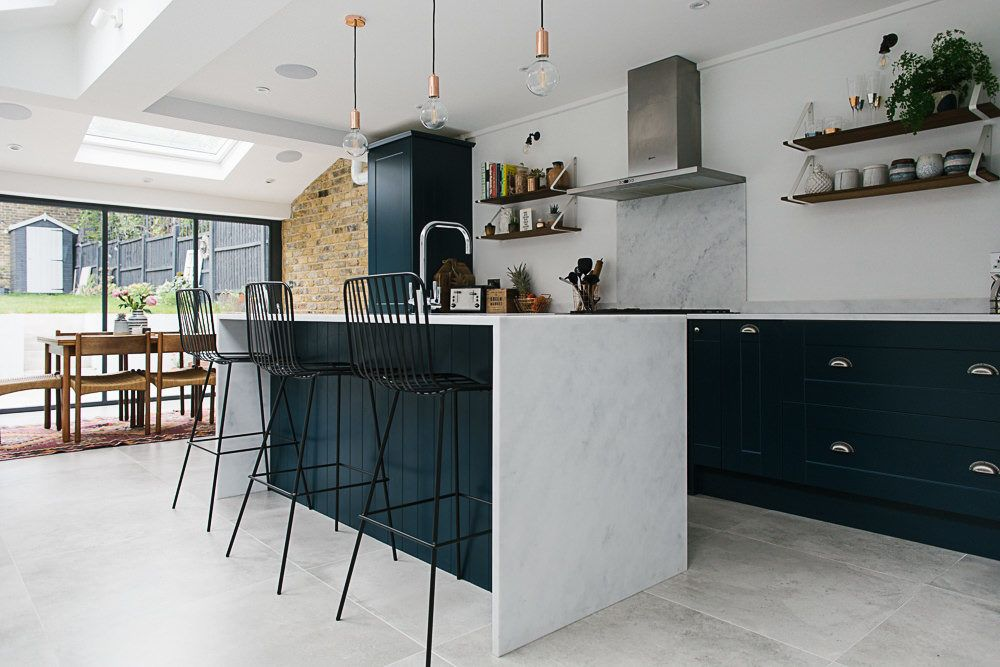 A London Victorian Terrace With Side Return Extension, Mid Century Style  Furniture And Modern