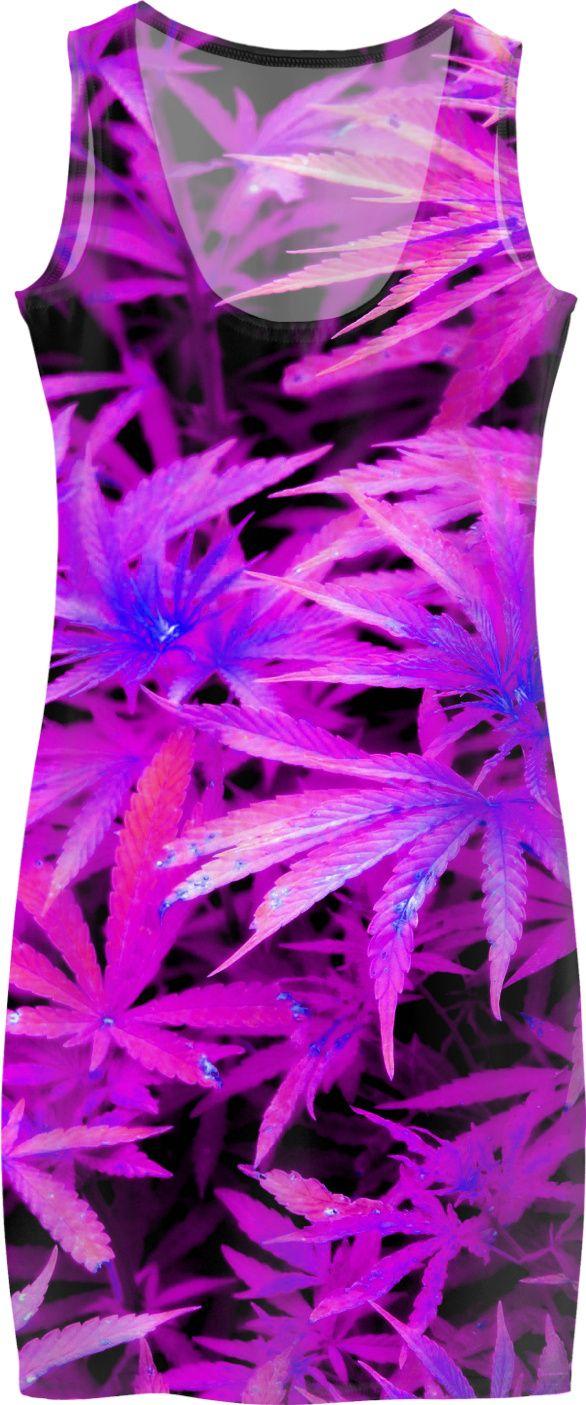 trippy ganja pattern purple pot marihujana leafs simple fit