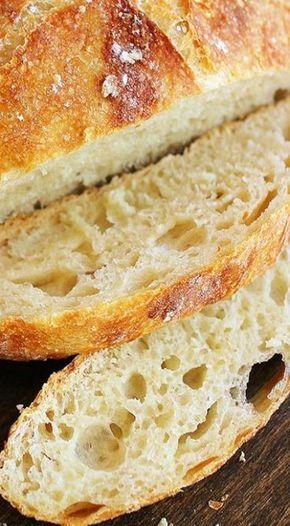 No-Knead Crusty Artisan Bread | Artisan bread recipes ...