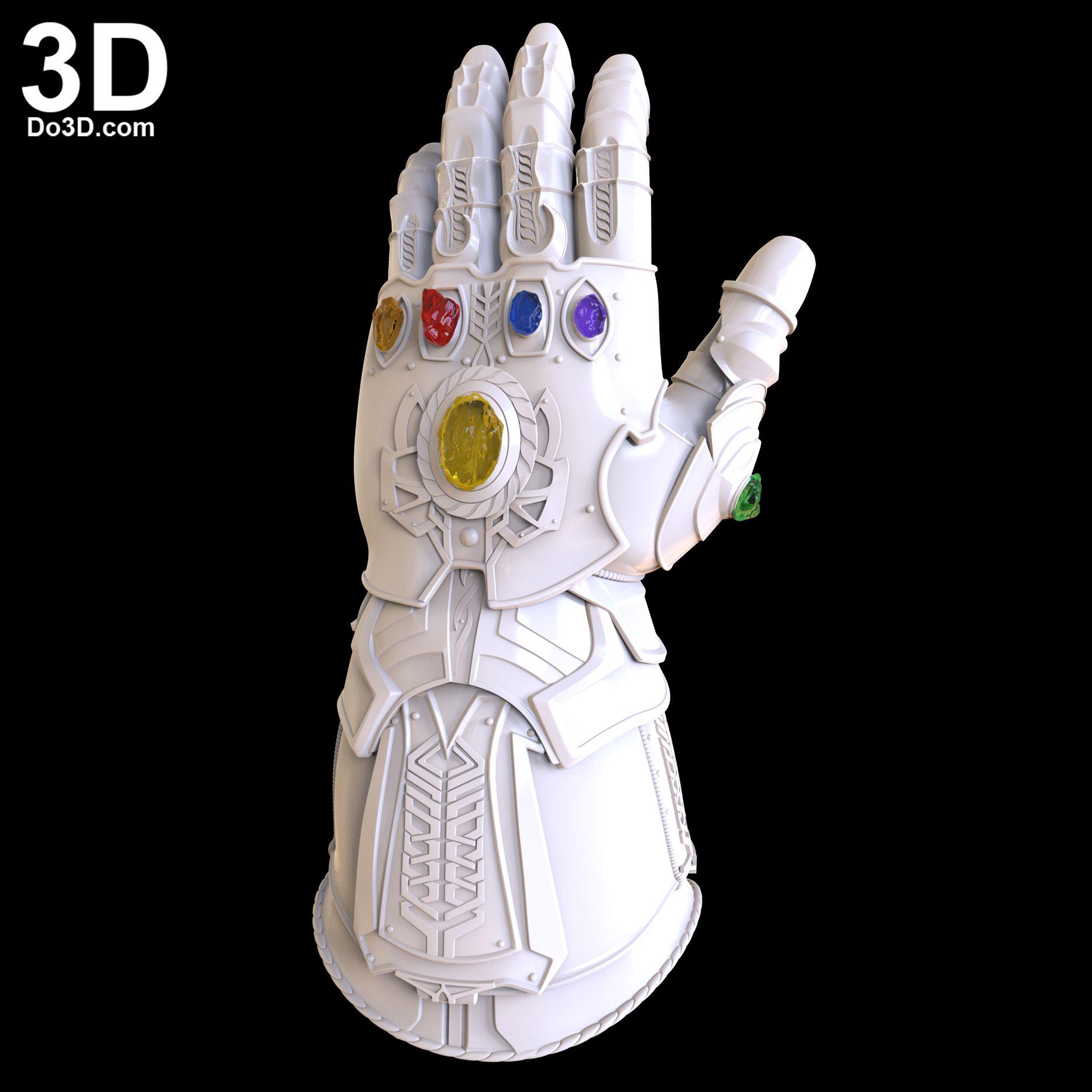 3d printable model thanos gauntlet forearm glove d23 avengers infinity war version print file format stl do3dcom