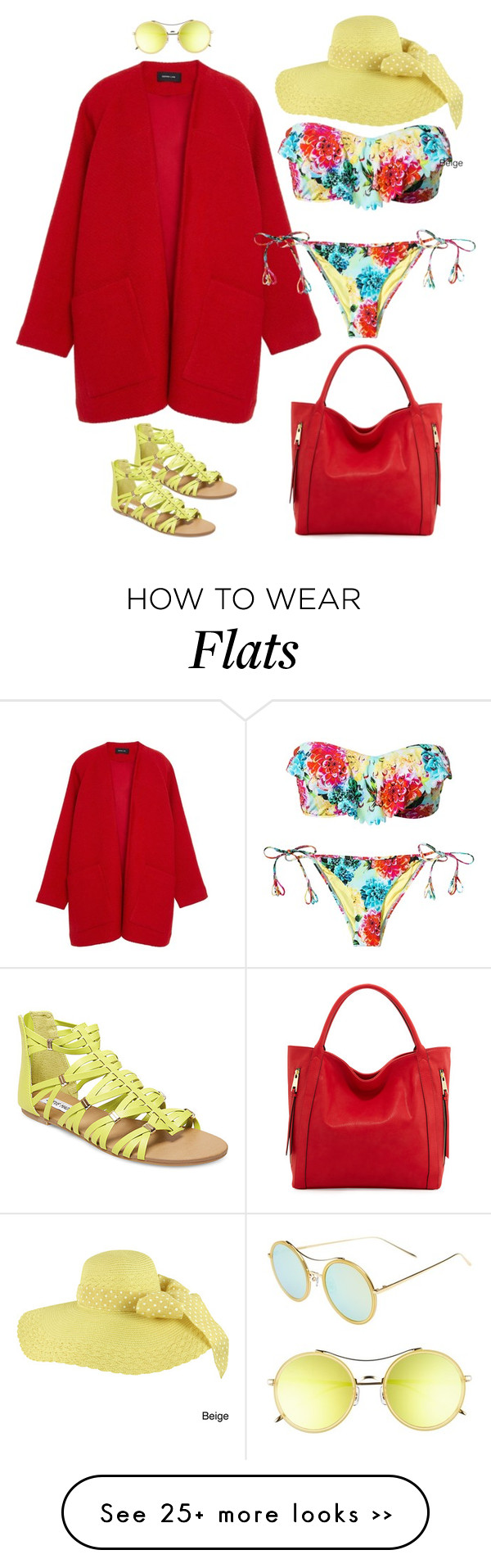 """""""Beach Chic"""" by miki006 on Polyvore featuring Derek Lam, Seafolly, Faddism, Steve Madden and Gentle Monster"""