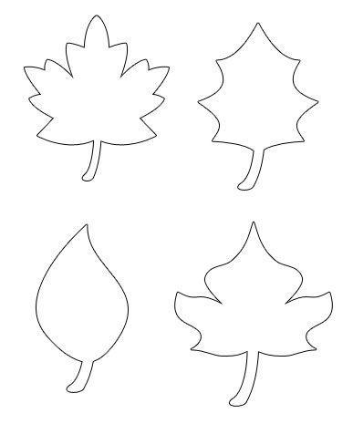 Pumpkin Leaf Template Printable Moldes de dibujos Leaf template
