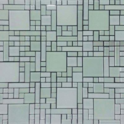 US Ceramic Tile Self Adhesive White 12 in x 12 in x 5 mm Glass