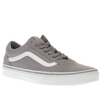 e8eedd294f5 Vans Grey Old Skool Suede Womens Trainers