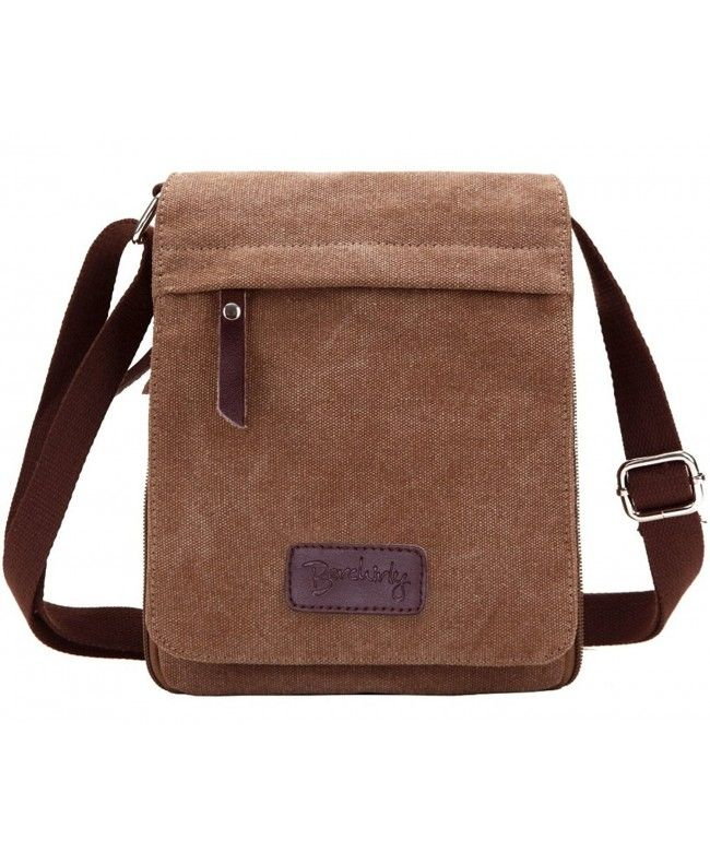 a65d7c4a2b Small Vintage Canvas+Leather Messenger Cross body bag Pack Organizer -  Coffee - C711OF8HEXB  Bags  handbags  gifts  Style  Messenger Bags