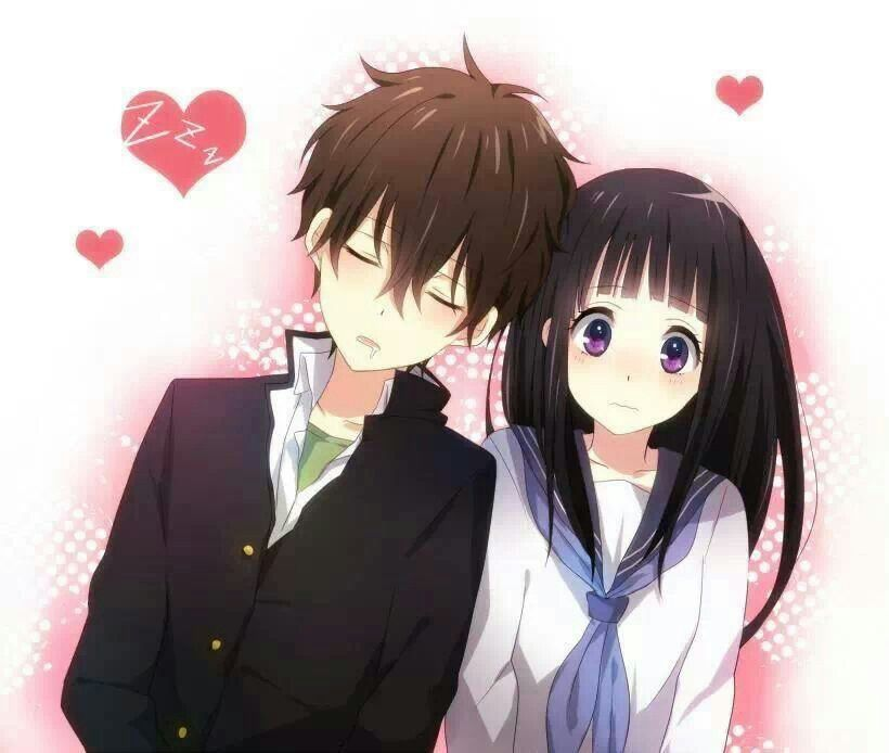 Anime couple cute sweet love random pinterest - Cute anime couple pictures ...