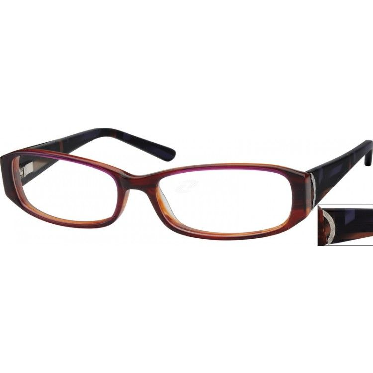 Acetate Full-Rim Frame4879   Sprung hinges, Stylish and Spring