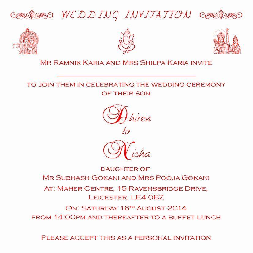 Hindu Wedding Invitation Template Awesome Hindu Wedding Invitation Wo Hindu Wedding Invitation Wording Hindu Wedding Invitations Hindu Wedding Invitation Cards