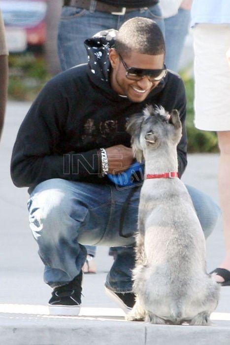 Usher And His Dog Pets Mansbestfriend Celebritypets Famouspets Adorable Doglover Ilovemydog Celebrity Dogs Dogs Man And Dog