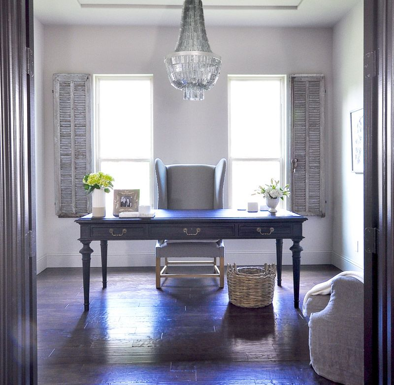 Home Office - Updated With A Beautiful Chandelier