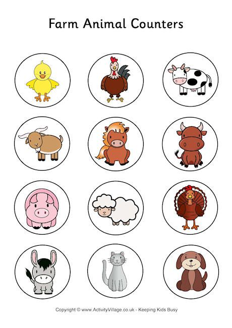 Farm Animal Counters  ...