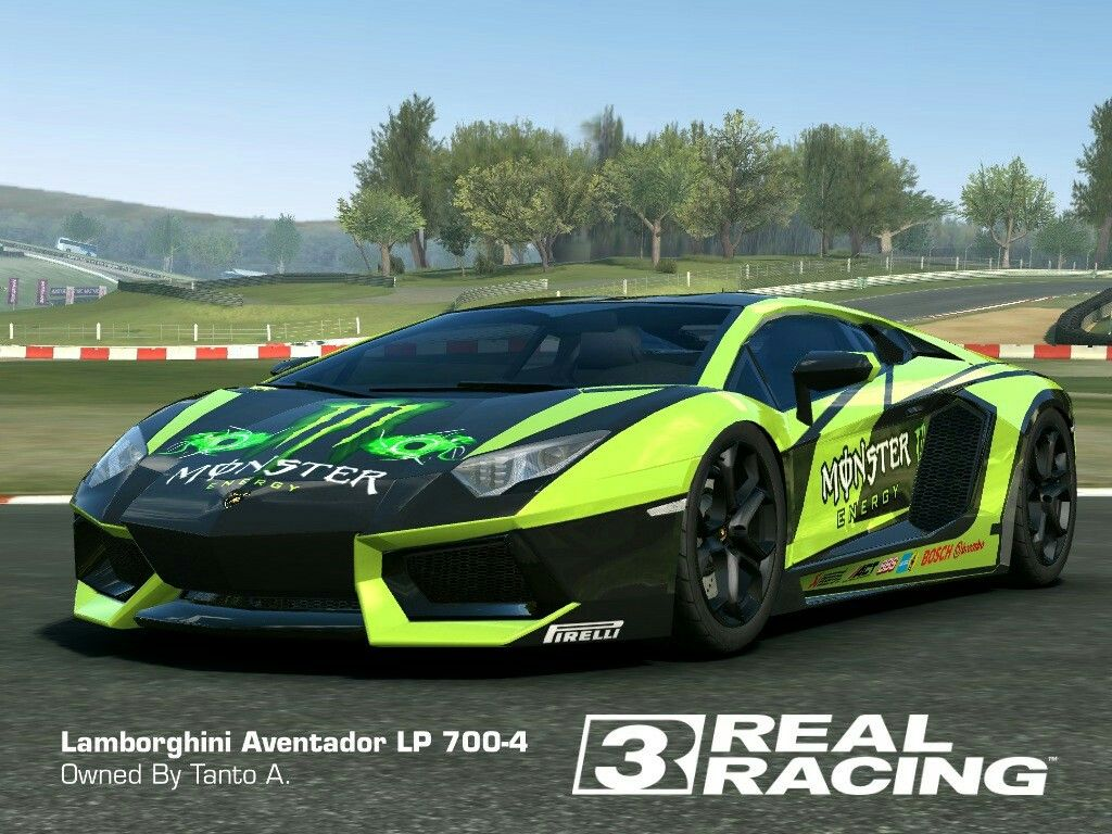 Real racing 3 mod skin livery vinly 2012 lamborghini aventador skin monster lamborghini aventador hd livery by tanto arc