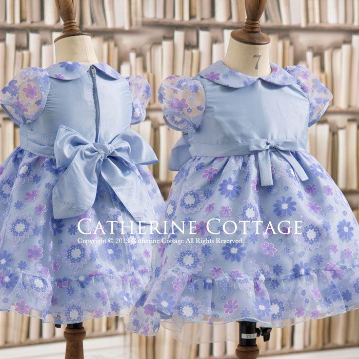 60559cd336e3f 商品番号: CC0285 ベビードレス 女の子 ベビープリントオーガンジードレス  ベビー服 ワンピース フォーマル お