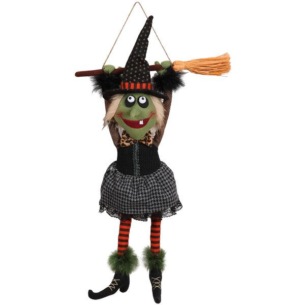 GCA International Witch  Broom Hanging Décor ($18) ❤ liked on - witch decorations