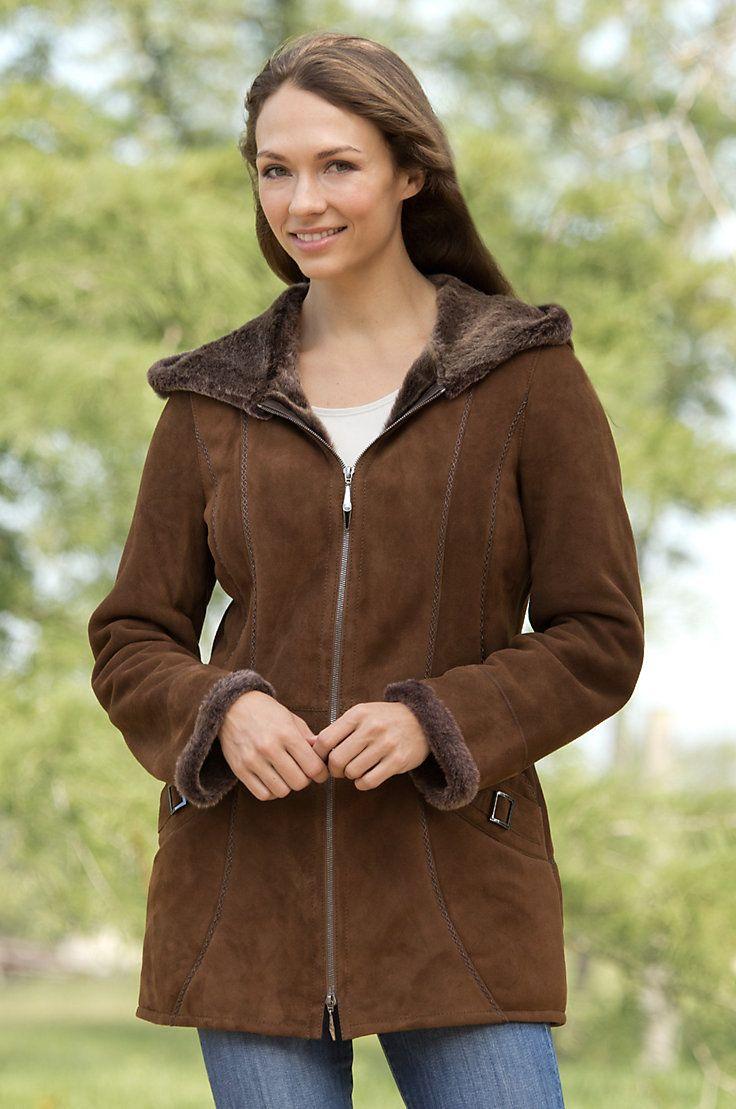 Women's Quinn Shearling Sheepskin Coat by Overland