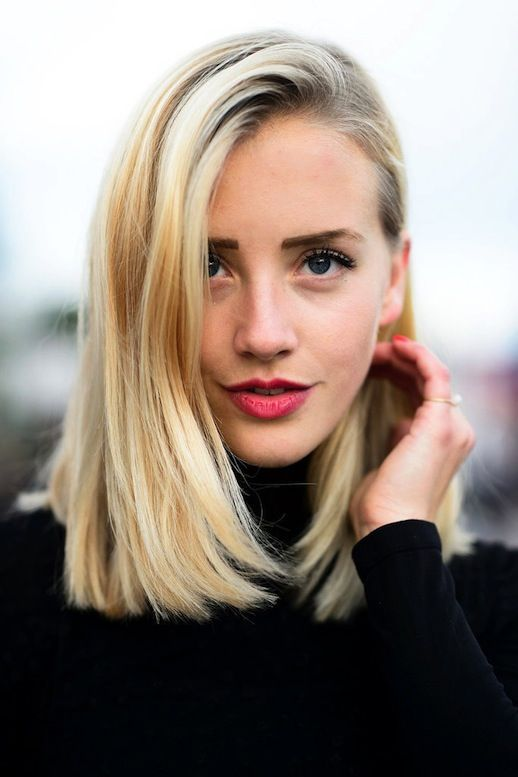 Side Parted Long Bob Hair Hairstyle Streetstyle Brows Beauty