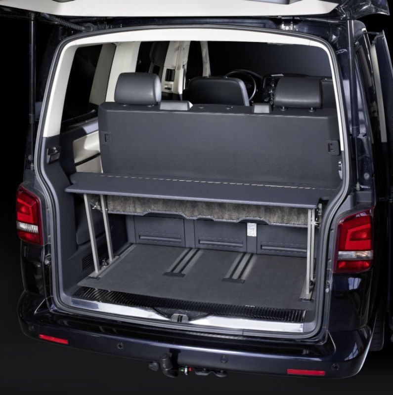vw t5 t6 multivan multiflexboard bed extension storage. Black Bedroom Furniture Sets. Home Design Ideas