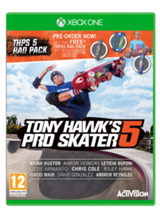 Tony Hawk S Pro Skater 5 With Preorder Rad Pack Only At Game Xbox One Xbox One Xbox Xbox One Games