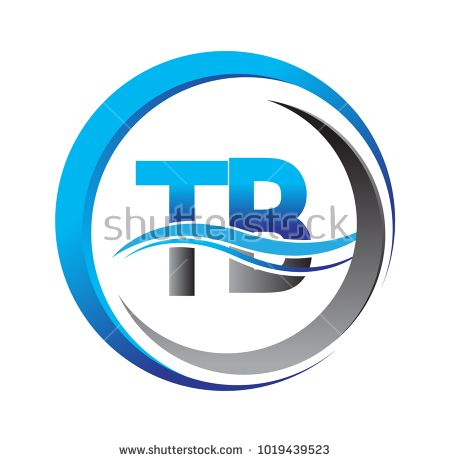 initial letter logo tb company name blue and grey color on circle rh pinterest com swoosh logo meaning swoosh logo images