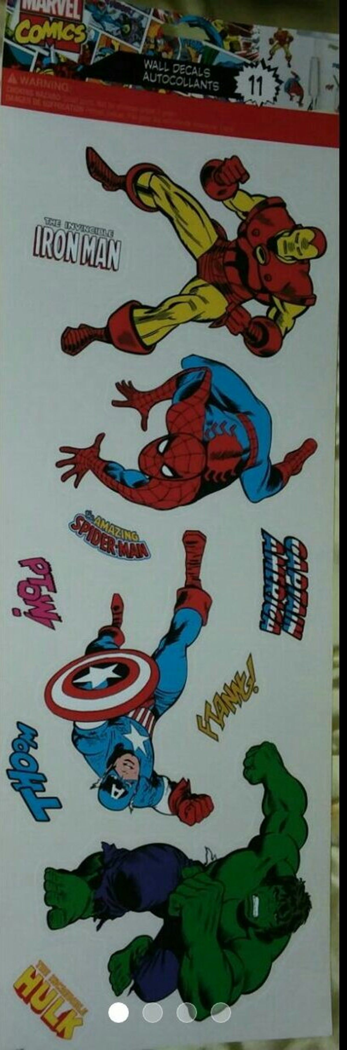 New Marvel wall art decals