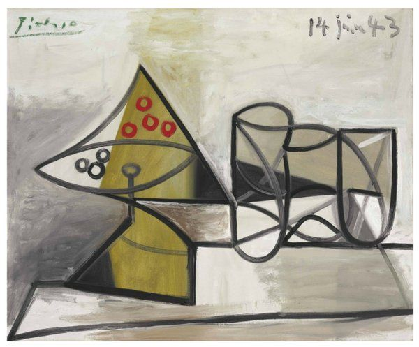 Pablo Picasso, a still-life, meets estimate and sells for a $1,565,000 final @ChristiesInc