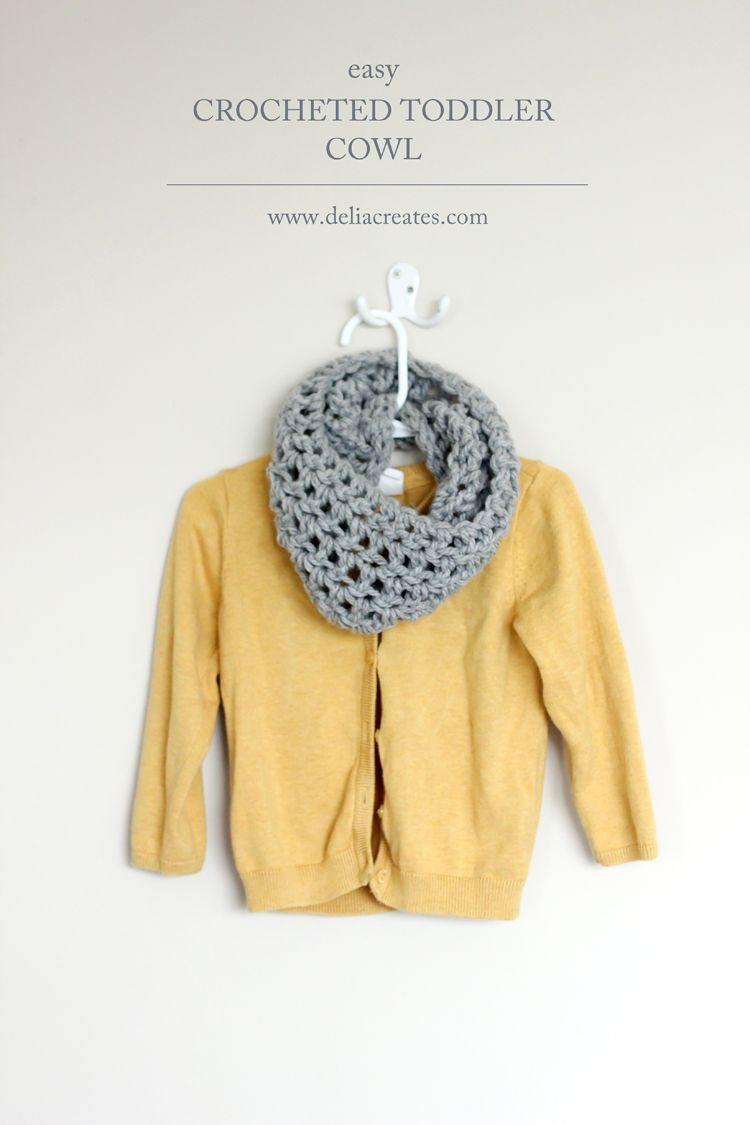 Crocheted Toddler Cowl Scarf - Free Pattern // Delia Creates | I ...