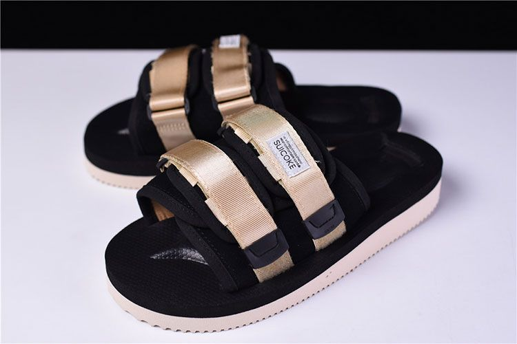 43630b169333 CLOT x Suicoke MOTO-VS sandals men and women trend slippers black gold