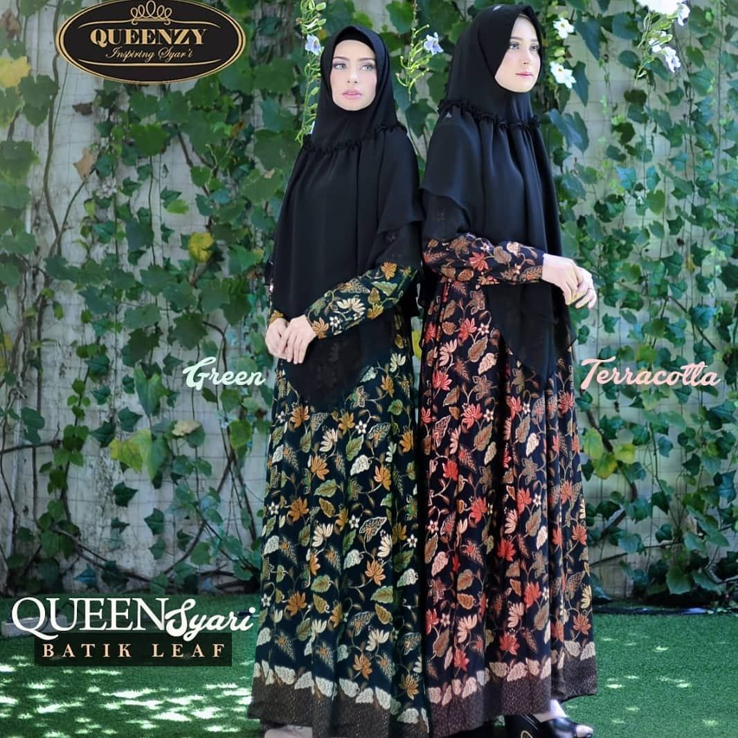 Dress Batik Syari Modern  Hitam, Model, Queen