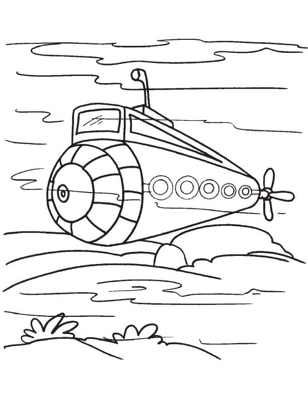 submarine coloring pages # 3