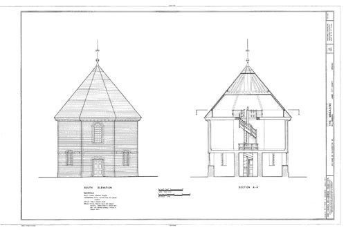 Historic Colonial Williamsburg Octagon Brick House Printed Plans 2 Stories Octagon House Colonial Williamsburg Octagon