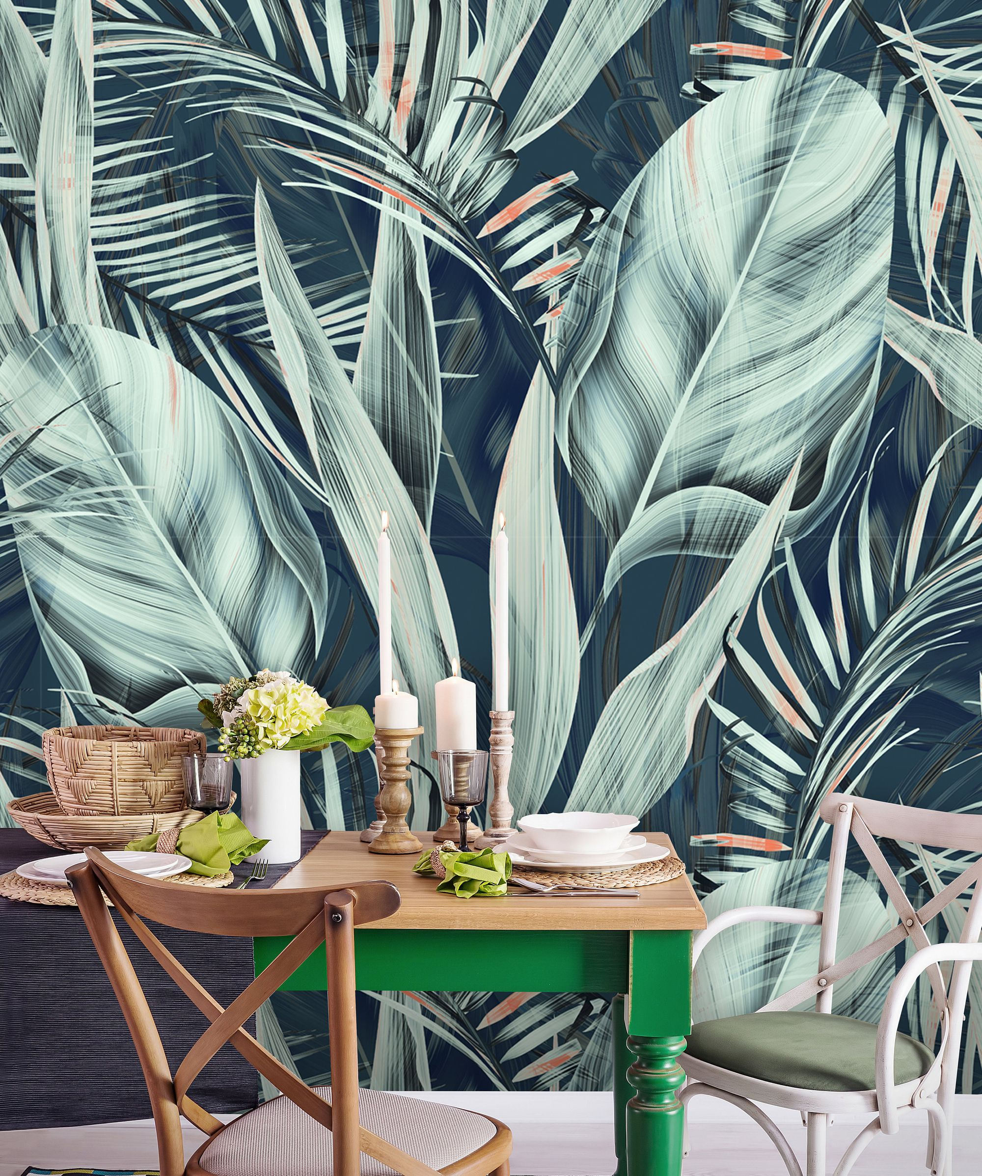 Tropical Self Adhesive Removable Wallpaper You Can Apply It By Yourself Check It Out In Our E Tropical Wallpaper Banana Leaf Wallpaper Leaf Wallpaper