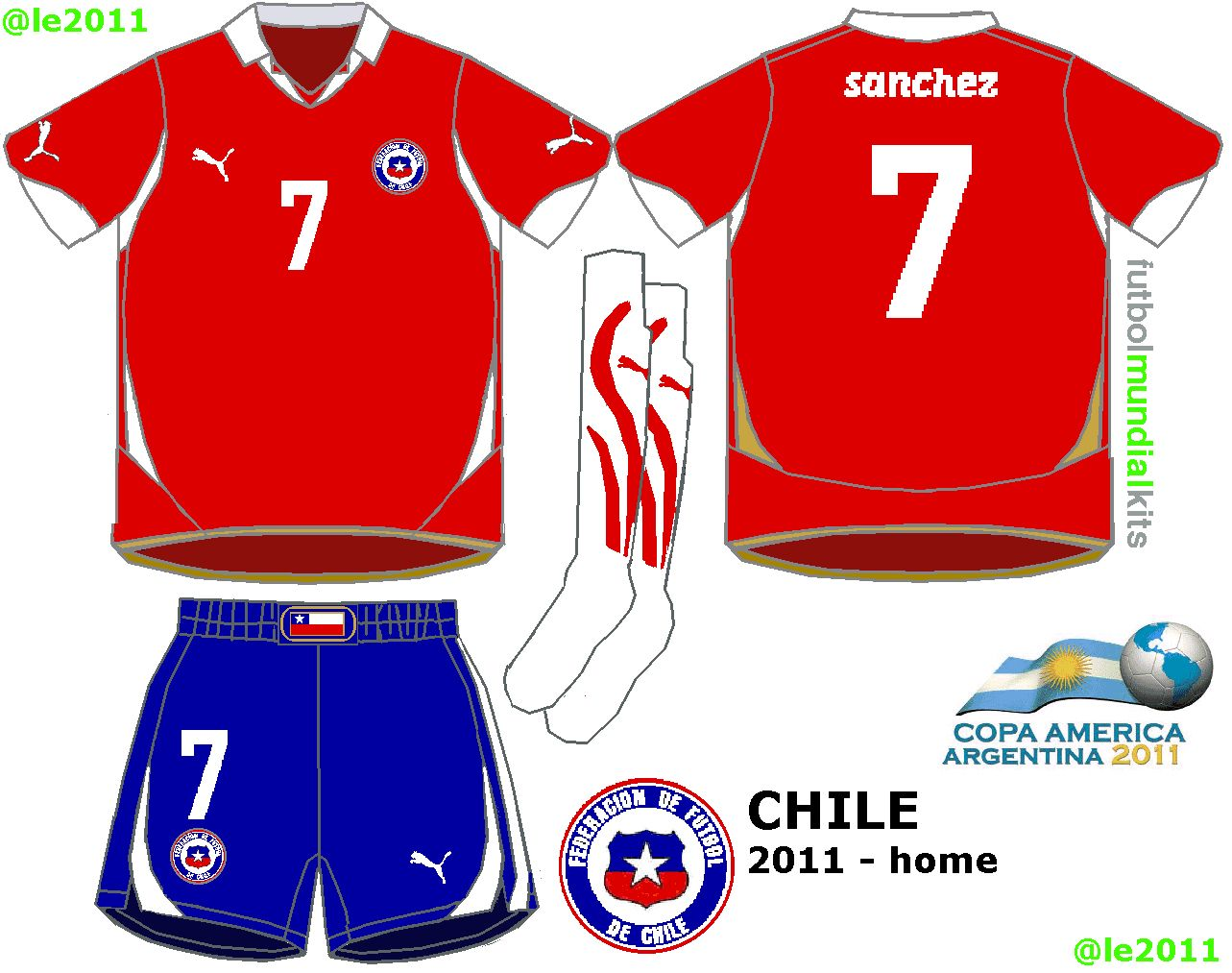 Chile home kit for 2011.