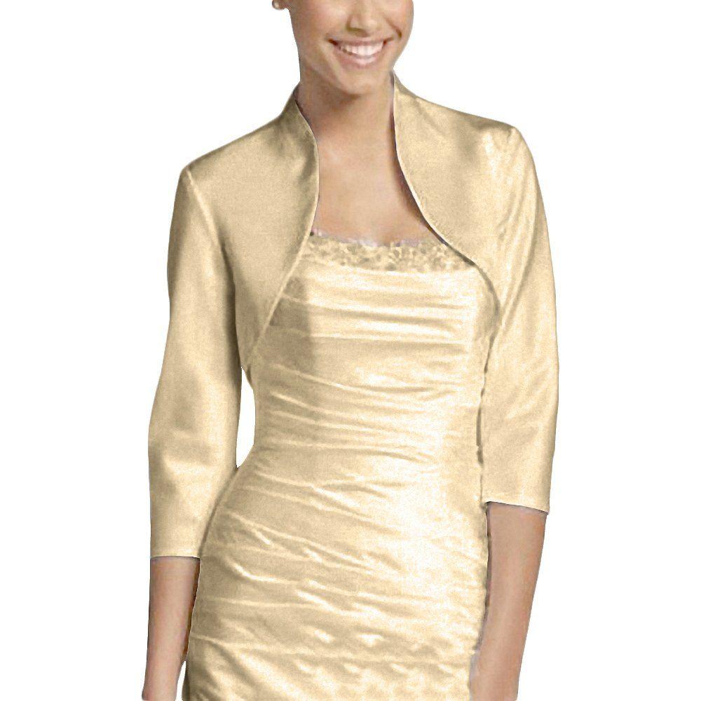 Djt Women Elegant 34 Long Sleeve Ladies Casual Formal Dress Bolero