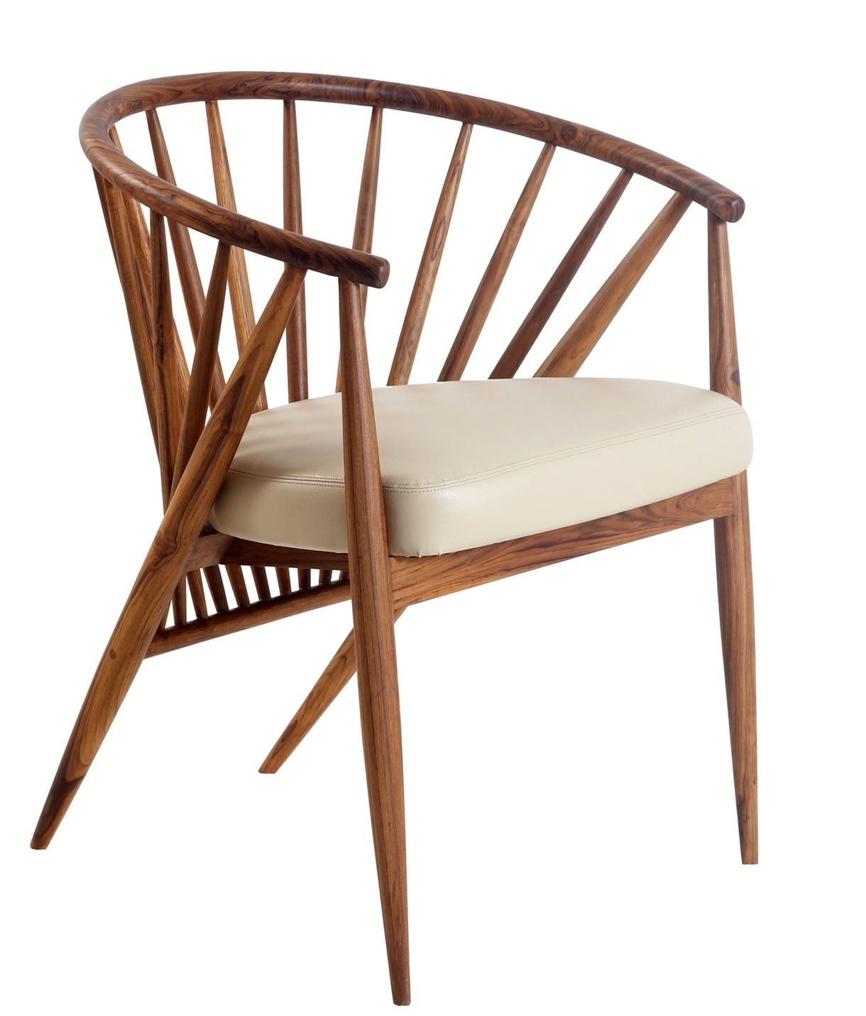 Hloma A Wooden Upholstered Chair Mid Century Modern Armchairs