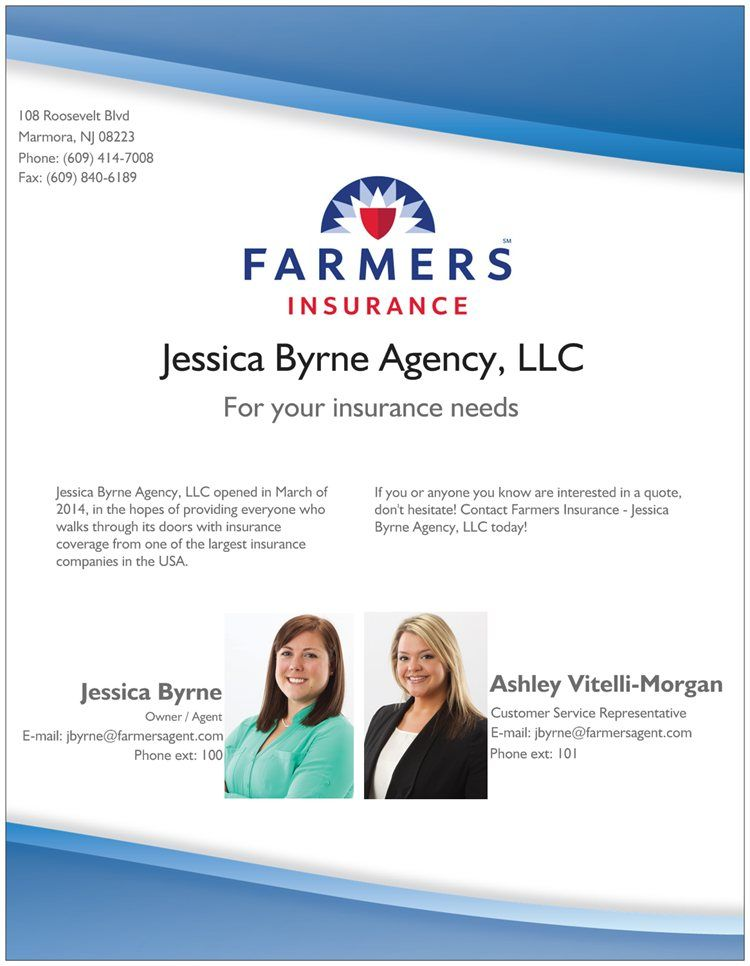 Contact Jessica Or Ashley Today For Your Free Insurance Review And