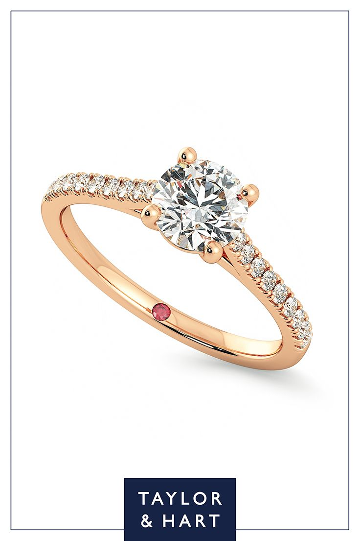 Get inspired by this stunning diamond pave engagement ringthe