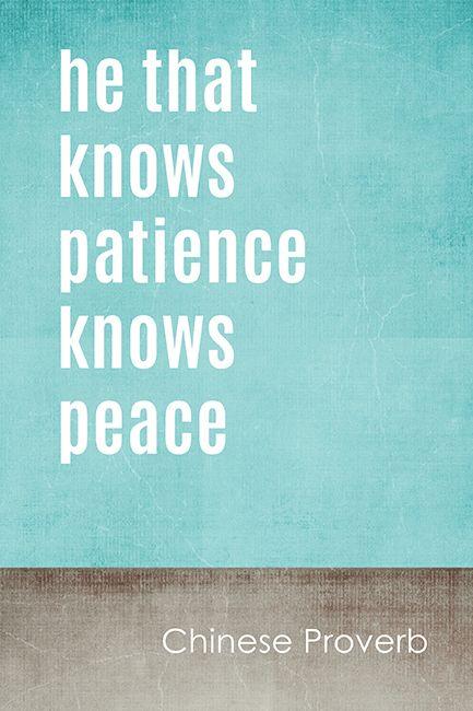 Asian philosophy regarding patience