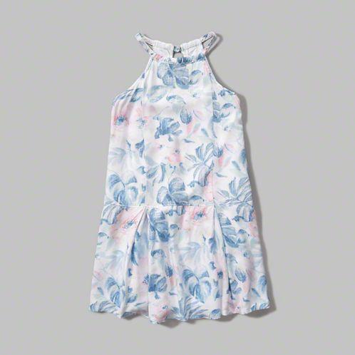 girls patterned shift dress