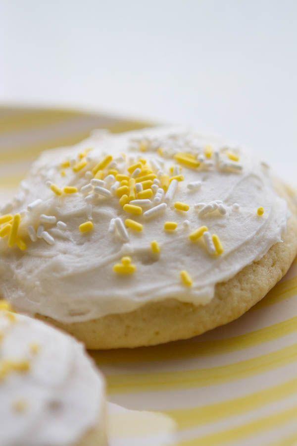 Lemon Sour Cream Sugar Cookies Recipe Cookies Galletas Galletas Para Ninos Recetas