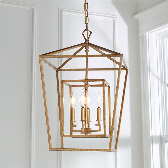Distressed Geometric Flare Lantern Island Pendant Lights Lantern Chandelier Oversized Pendant Light