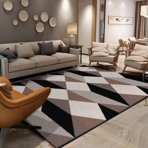 Best Geometric Diamonds Brown Black Grey White Home Decorative 400 x 300
