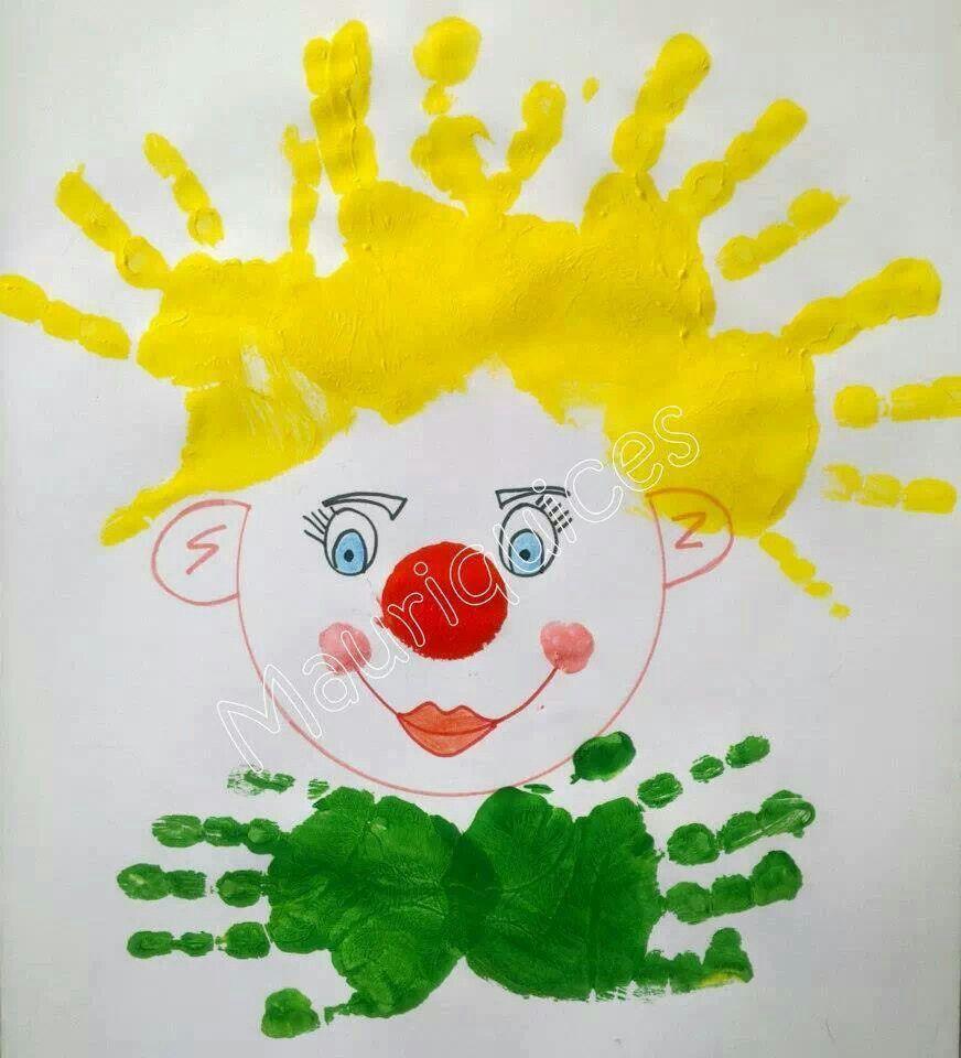 Populares Palhaço com pintura de mãos. | IDEIAS | Pinterest | Palhaços, Mãos  IU28
