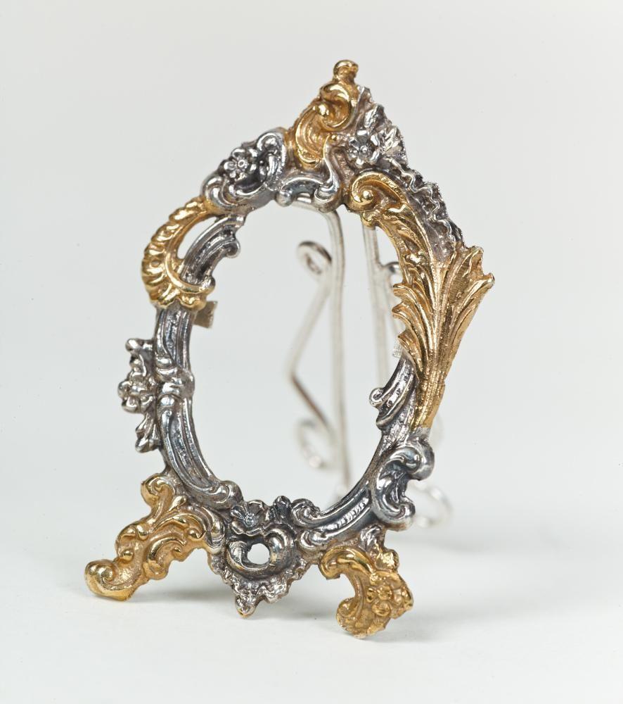 "Silver mini-photoframe ""Miniature"" #VintageRetro"