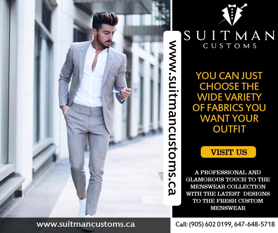 1ddbc773549 Suitman Customs provides best quality of men suits and tailoring in toronto.  Our professionals gives glamorous touch to the menswear collection with the  ...