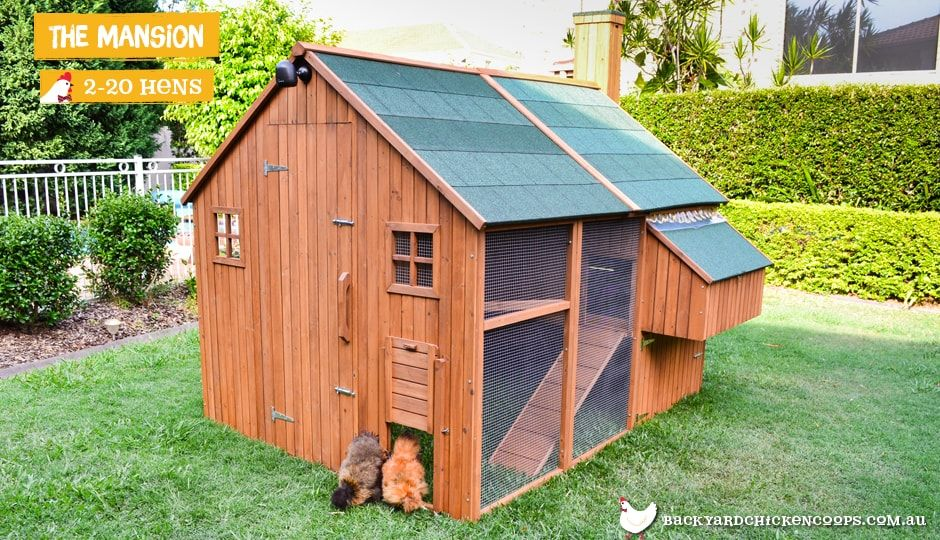The Mansion™ Coop $1849 | Chickens backyard, Walk in ...