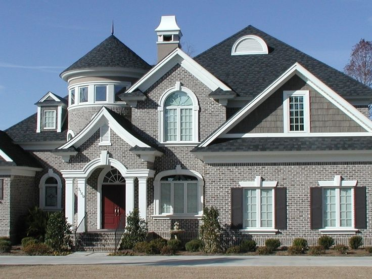 Gray brick house visit home pinterest gray brick houses grey brick - Exterior paint for brick homes pict ...
