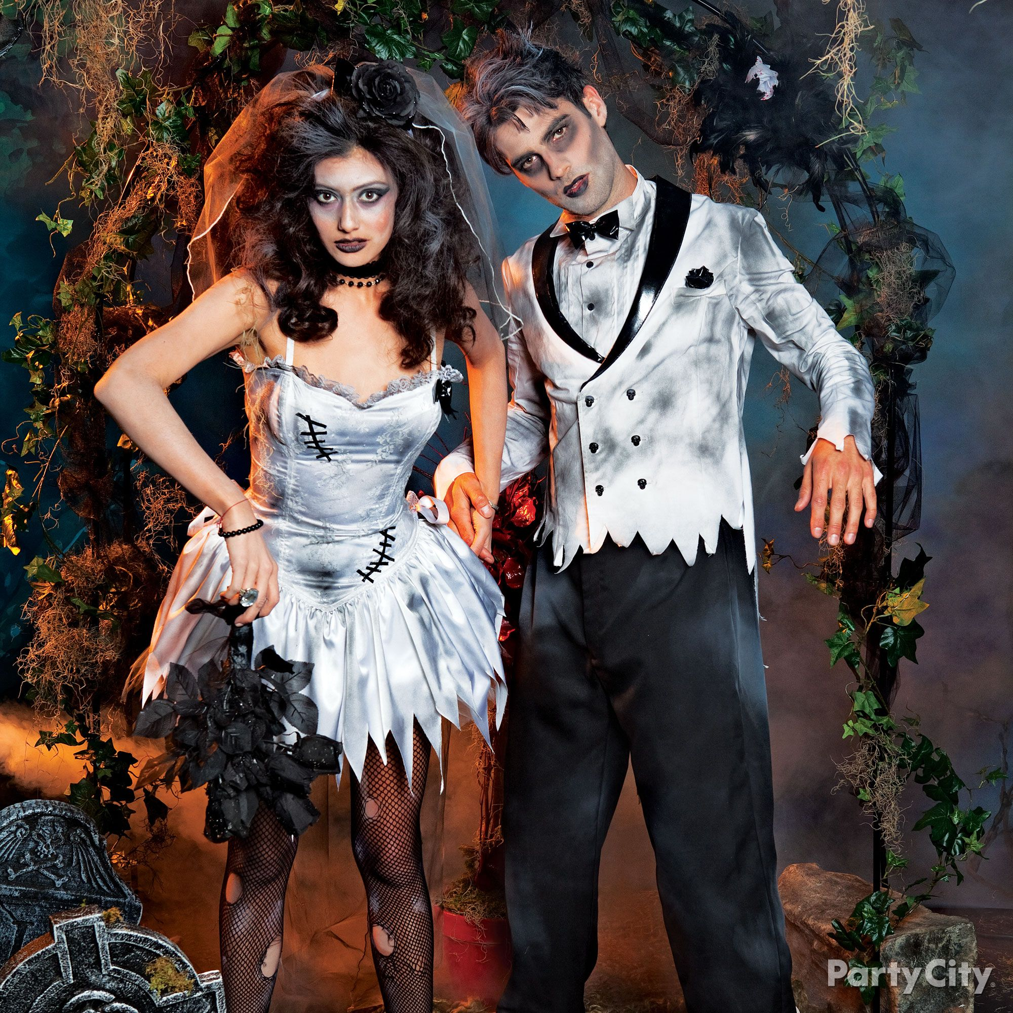 Hey baby wanna get hitched our zombie bride and groom canut wait
