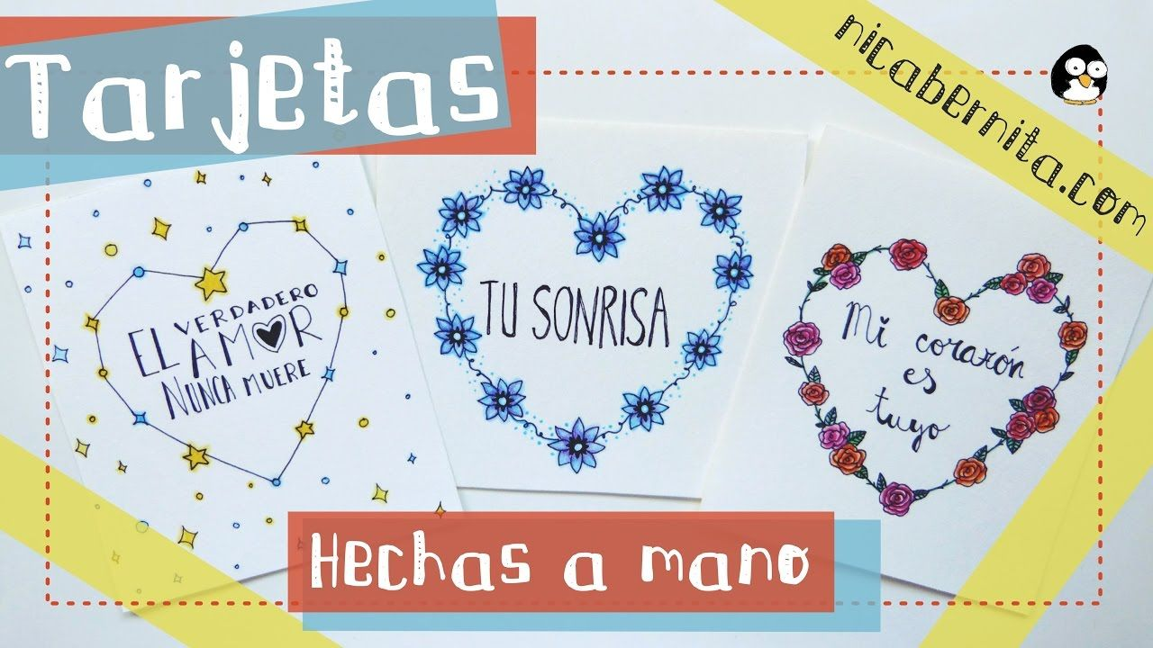Tarjetas Hechas A Mano Con Frases De Amor Ideas Para Regalar
