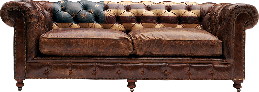 American Flag Vintage Chesterfield Sofa For The Home